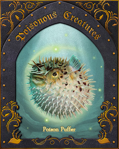 Poison Puffer Poisonous Creatures Badge - Crossword Cove HD