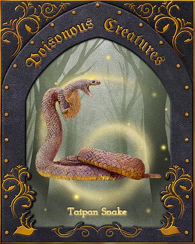 Taipan Snake Poisonous Creatures Badge - Poppit! Bingo