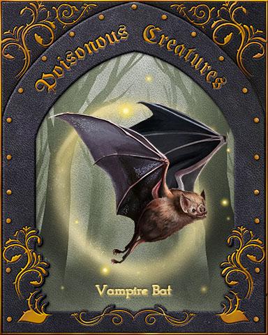 Vampire Bat Poisonous Creatures Badge - Pogo™ Slots