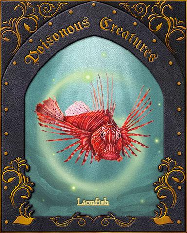 Lionfish Poisonous Creatures Badge - Jigsaw Treasure Hunter HD