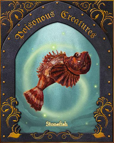 Stonefish Poisonous Creatures Badge - Mahjong Safari HD