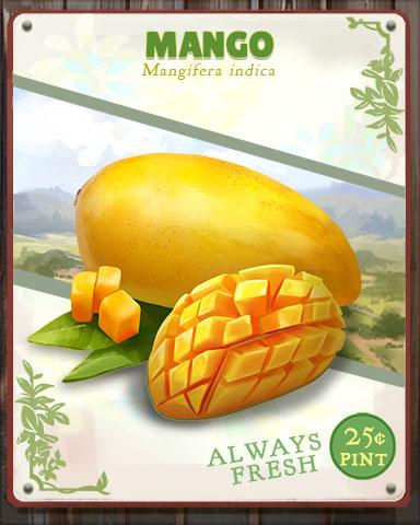 Mango Produce Badge - Mahjong Safari HD