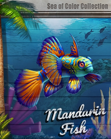 Mandarin Fish Sea Of Color Badge - Canasta HD