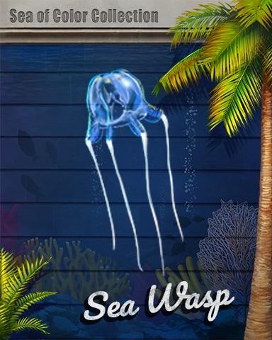 Sea Wasp Sea Of Color Badge - Word Whomp HD