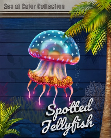 Spotted Jellyfish Sea Of Color Badge - First Class Solitaire HD