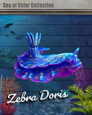 Zebra Doris Sea Of Color Badge - Spades HD