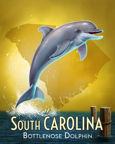 Bottlenose Dolphin Wild America Badge - Poppit! Bingo