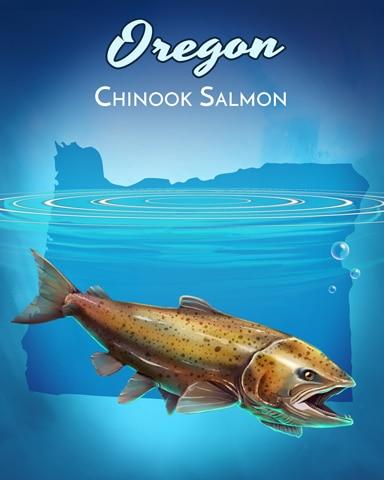 Chinook Salmon Wild America Badge - Jungle Gin HD