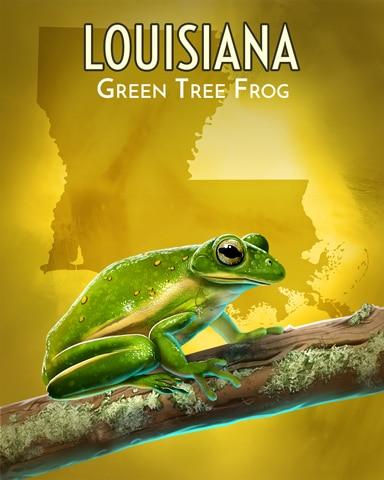Green Tree Frog Wild America Badge - Word Whomp HD