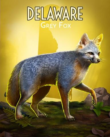 Grey Fox Wild America Badge - Tri-Peaks Solitaire HD