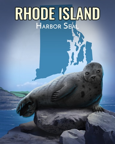 Harbor Seal Wild America Badge - World Class Solitaire HD