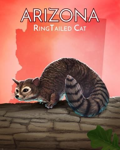 Ring-Tailed Cat Wild America Badge - Dice City Roller HD