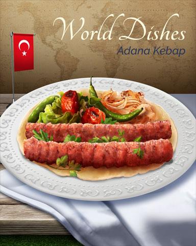 Adana Kebap World Dishes Badge - Crossword Cove HD