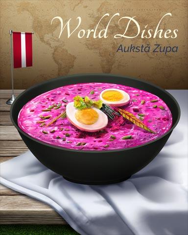 Auksta Zupa World Dishes Badge - Word Whomp HD