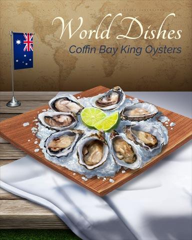 Coffin Bay King Oysters World Dishes Badge - Mahjong Safari HD