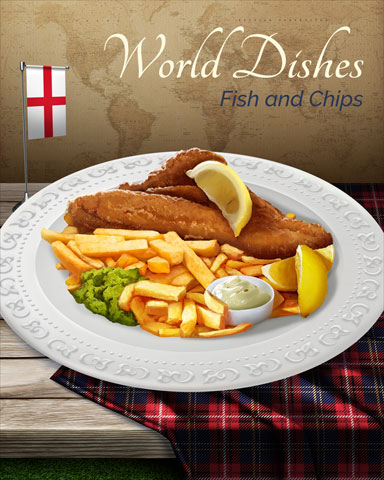Fish And Chips World Dishes Badge - StoryQuest