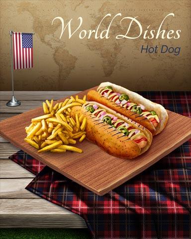 Hot Dog World Dishes Badge - Spades HD