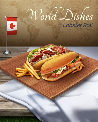 Lobster Roll World Dishes Badge - Claire Hart: Secret In The Shadows