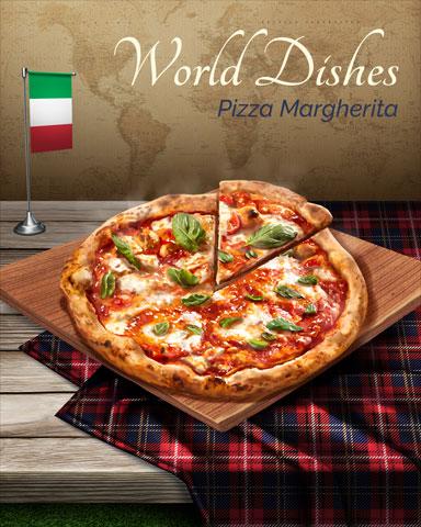 Pizza Margherita World Dishes Badge - Spades HD