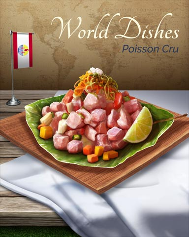 Poisson Cru World Dishes Badge - World Class Solitaire HD