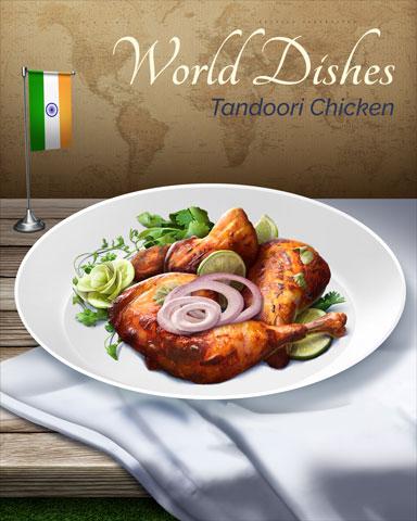 Tandoori Chicken World Dishes Badge - Claire Hart: Secret In The Shadows