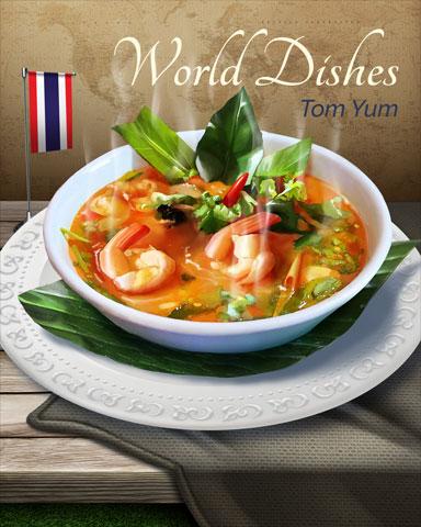 Tom Yum World Dishes Badge - Canasta HD