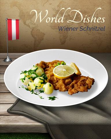 Wiener Schnitzel World Dishes Badge - Pogo™ Slots