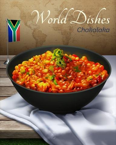 Chakalaka World Dishes Badge - World Class Solitaire HD
