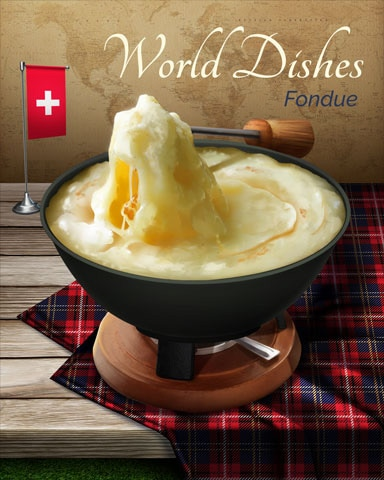 Fondue World Dishes Badge - Payday Freecell HD
