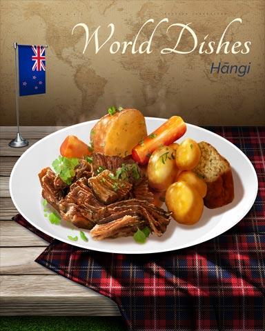Hangi World Dishes Badge - Spades HD