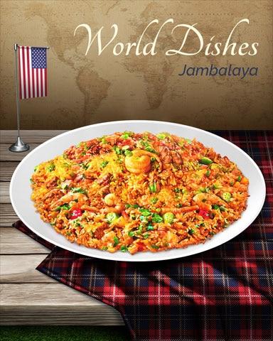 Jambalaya World Dishes Badge - Poppit! Party