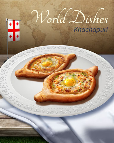 Khachapuri World Dishes Badge - Canasta HD