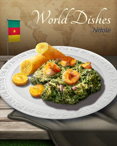 Ndole World Dishes Badge - First Class Solitaire HD