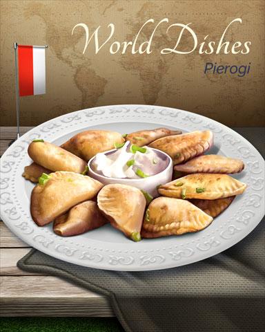 Pierogi World Dishes Badge - Tri-Peaks Solitaire HD