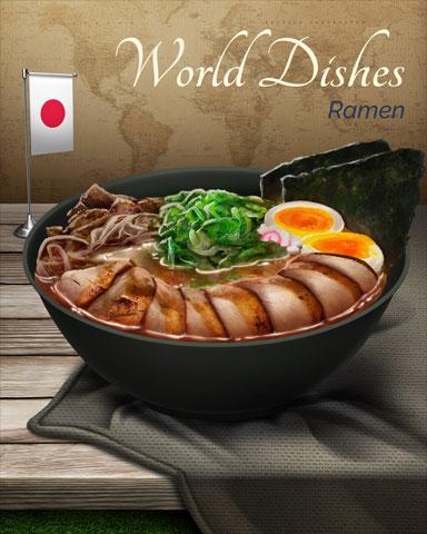 Ramen World Dishes Badge - Spades HD