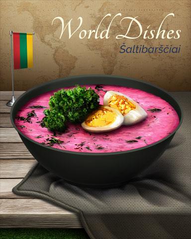 Saltibarsciai World Dishes Badge - Canasta HD