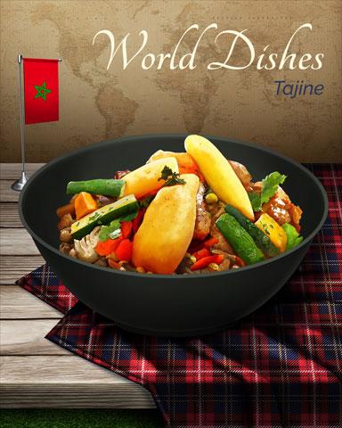 Tajine World Dishes Badge - World Class Solitaire HD
