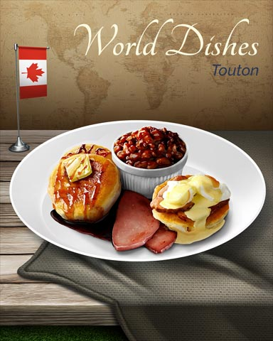 Touton World Dishes Badge - World Class Solitaire HD