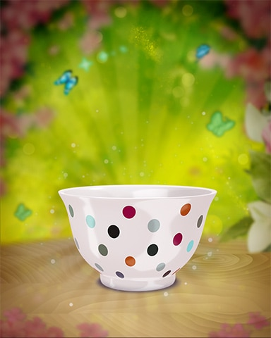 Dotted Teacup Badge - Poppit! Party