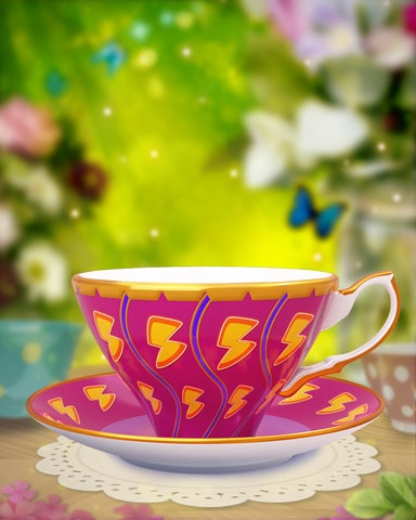 Powered-Up Teacup Badge - Poppit! Bingo