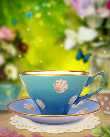 Seashell Teacup Badge - Quinn's Aquarium