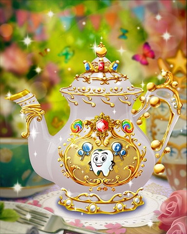 Toothy's Teapot Badge - Sweet Tooth Town