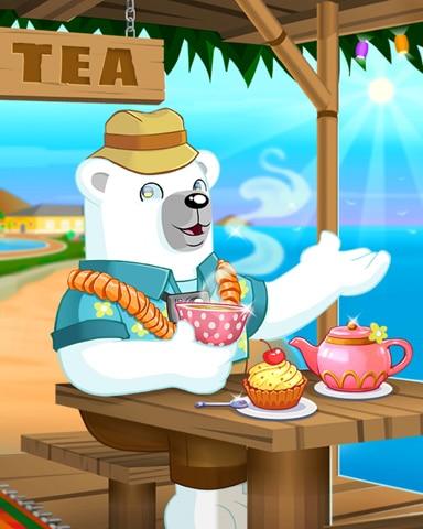 Pogo Tea With Bearnard Badge