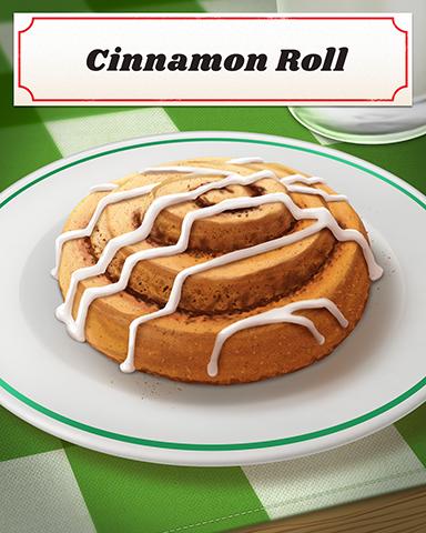 Cinnamon Roll Badge - Bingo Luau