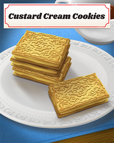 Custard Cream Cookies Badge - Poppit! Party