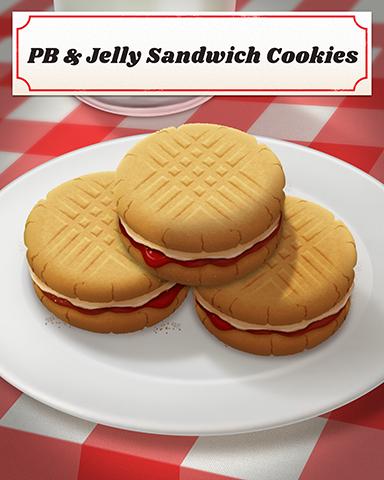 PB & Jelly Sandwich Cookies Badge - Big City Adventure