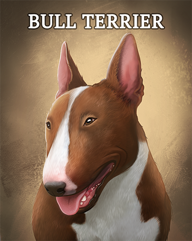 Bull Terrier Badge - Word Search Daily HD