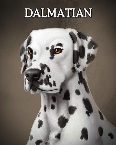 Dalmatian Badge - Dominoes