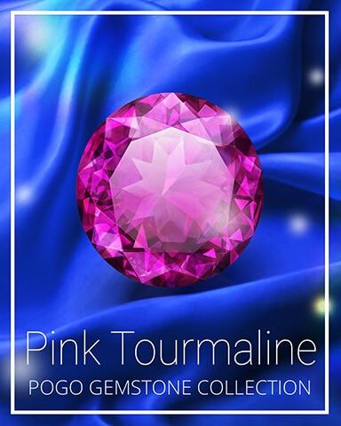 Pink Tourmaline Gemstone Badge - Mahjong Safari HD