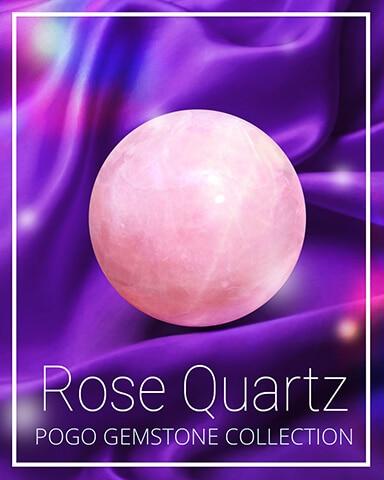 Rose Quartz Gemstone Badge - Anagrams